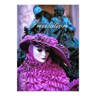 Venetian Mask 5x7 Paper Invitation Card