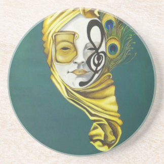 Venetian Mask Drink Coasters