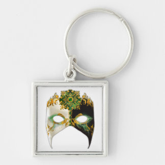 Venetian Mask: Emerald Jewel Keychain