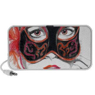 Venetian Mask Girl Ruby Speaker System