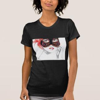 Venetian Mask Girl Ruby T-Shirt