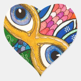 Venetian mask heart sticker