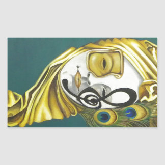Venetian Mask Rectangular Sticker