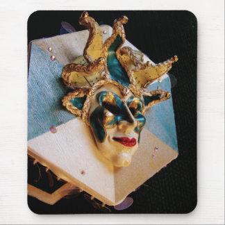 Venetian Mask Sculpture Mouse Pad