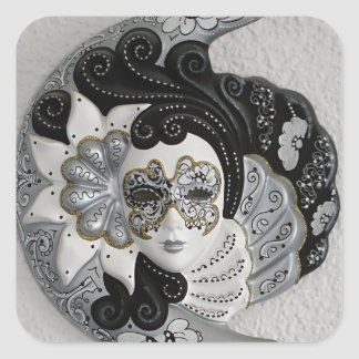 Venetian Mask Square Sticker