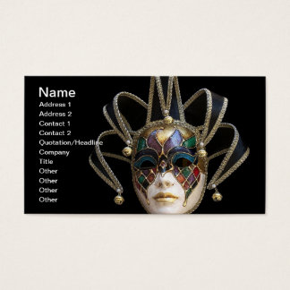 Venetian Masks Business Card