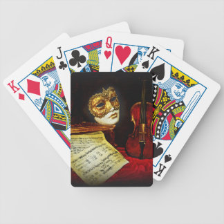 Venetian Masks collection - Musical night Bicycle Playing Cards