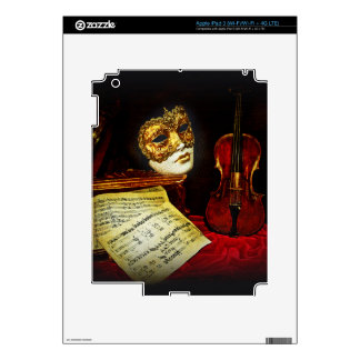 Venetian Masks collection - Musical night Decal For iPad 3