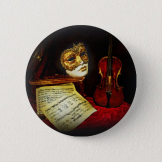 Venetian Masks collection - Musical night Pinback Button