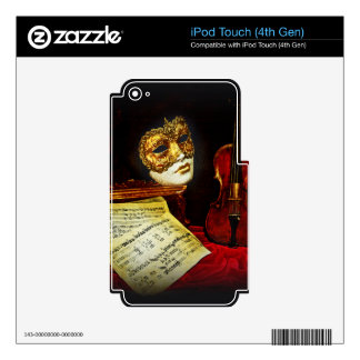 Venetian Masks collection - Musical night Skin For iPod Touch 4G