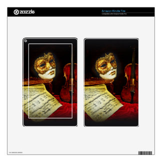Venetian Masks collection - Musical night Skins For Kindle Fire