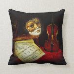 Venetian Masks collection - Musical night Throw Pillow