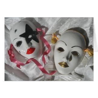 Venetian masks greeting card