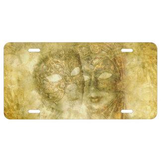 Venetian Masks License Plate