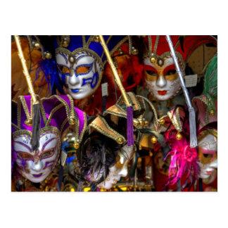 Venetian Masks Post Card