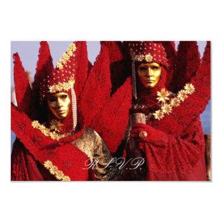Venetian Masks RSVP Card