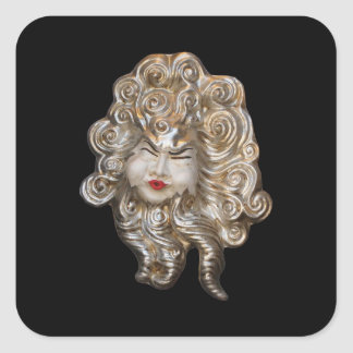 Venetian Masks Square Sticker