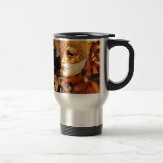Venetian masks travel mug