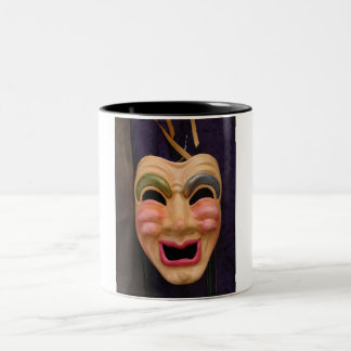 Venetian Masks Two-Tone Coffee Mug