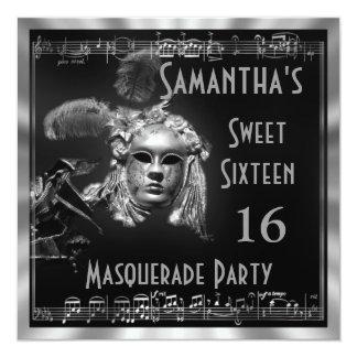 Venetian masquarade ball sixteen party card