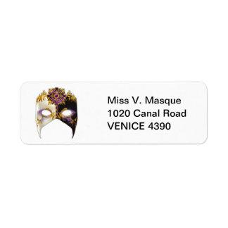 Venetian Masque: Amethyst Purple Jewel Label