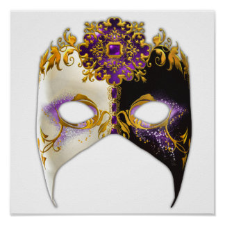 Venetian Masque: Amethyst Purple Jewel Poster