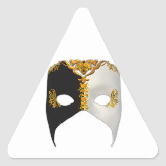 Venetian Masque: Black, White and Gold Stickers