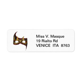 Venetian Masque: Gold and Red Rose Label