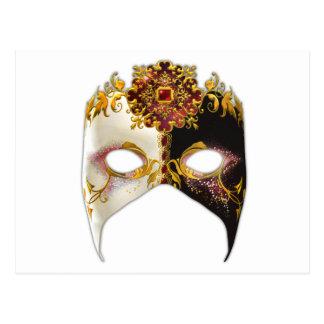 Venetian Masque: Ruby Jewel Postcard