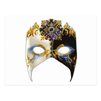 Venetian Masque: Sapphire Jewel Postcard