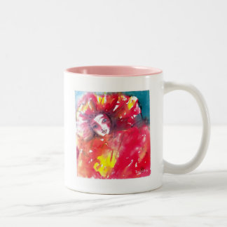 VENETIAN MASQUERADE FACES - CARNIVAL MASK IN RED Two-Tone COFFEE MUG