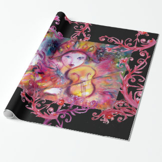 VENETIAN MASQUERADE FACES/ HARLEQUIN AND COLUMBINE WRAPPING PAPER