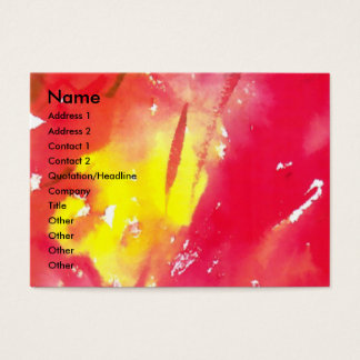 VENETIAN MASQUERADE FACES - MASK IN RED BUSINESS CARD