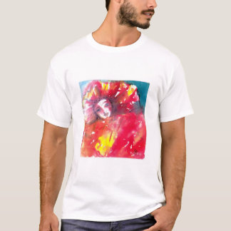 VENETIAN MASQUERADE FACES - MASK IN RED T-Shirt