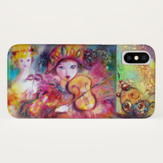 VENETIAN MASQUERADE / HARLEQUIN AND COLUMBINE iPhone X CASE