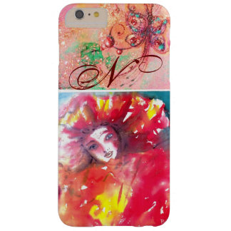 VENETIAN MASQUERADE - MASK IN RED MONOGRAM BARELY THERE iPhone 6 PLUS CASE