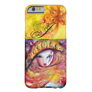 VENETIAN MASQUERADE - MASK IN YELLOW MONOGRAM BARELY THERE iPhone 6 CASE