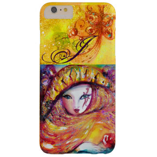 VENETIAN MASQUERADE - MASK IN YELLOW MONOGRAM BARELY THERE iPhone 6 PLUS CASE