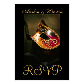 Venetian Masquerade Mask RSVP Wedding Cards Business Card