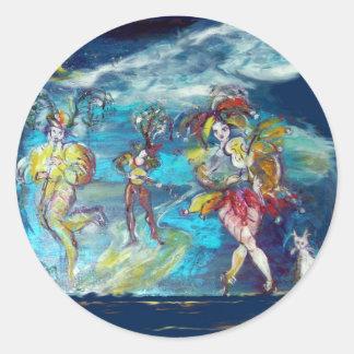 VENETIAN MASQUERADE / MUSIC IN THE NIGHT CLASSIC ROUND STICKER
