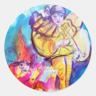 VENETIAN MASQUERADE  / MUSICAL NOCTURNE CLASSIC ROUND STICKER