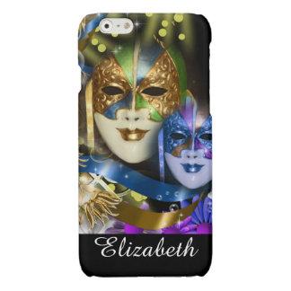 Venetian masquerade quinceanera masks glossy iPhone 6 case
