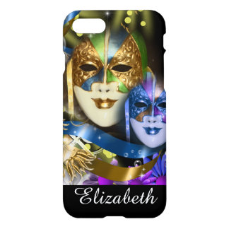 Venetian masquerade quinceanera masks iPhone 7 case