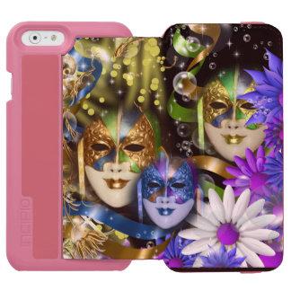 Venetian masquerade quinceanera masks PINK iPhone 6/6s Wallet Case