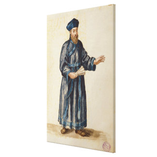 Venetian missionary in China Canvas Print