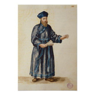Venetian missionary in China Poster