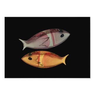 Venetian Murano Glass Fish Invitation
