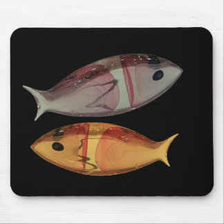 Venetian Murano Glass Fish Mouse Pad