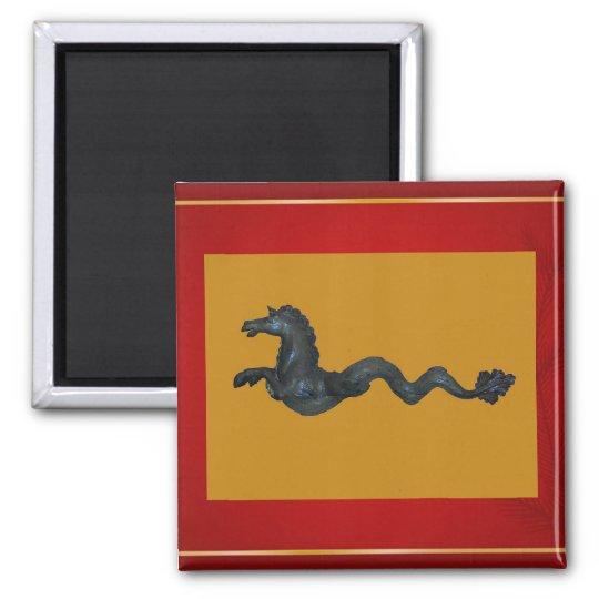 Venetian Murano Glass Horse Magnet