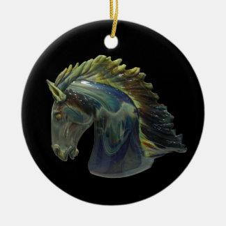 Venetian Murano Glass Horse Ornament
